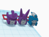 Heads for Galvatron,Scourge,Cyclonus Kreons (2/2) 3d printed Design in color