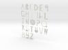 Alphabet Tools 3d printed