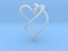 Earring heart 3d printed