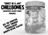 "ChillBones - Ghost-in-a-Jar 3d printed render showing hollow ""Ghost cavity"""