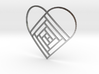 Quilt Block Log Cabin Pendant - Heart Edition 3d printed
