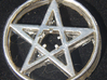 Light up pentacle necklace (front) 3d printed As you will get it