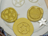 Light up pentacle necklace (back) 3d printed I tried various methods to make the mold