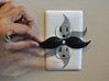 Mustache shaped outlet cover 3d printed