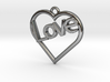 "Heart ""Love"" Pendant 3d printed"