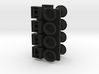 1/96 scale Cap and bollards in wall set 3d printed