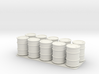 10 x 28mm 50 Gallon Drums 3d printed