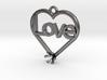 "Heart Pendant ""Love"" (Mount 4.28mm) 3d printed"