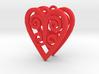 Ace Earrings - Hearts 3d printed