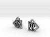 Dirac Bracket Notation Earrings 3d printed