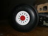 "F-111 Main Wheel Cover V2 3d printed Sullivan 4.5"" wheel with F-111 wheel cover and hub."