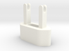 The Wrap - cable winder for Euro iPhone charger 3d printed