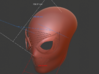 Spiderman Homecoming Face Shell 3d printed