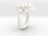 Sea Anemone Ring17.5mm 3d printed