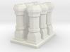 edwardian chimneys  - 19mm high 3d printed