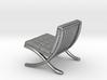 """Mies-Van-Barcelona-Chair - 1/2"""" Model 3d printed"""