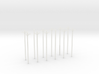 N-Scale Transmission Poles (10-Pack) 3d printed Shapeways Rendering