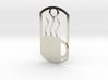Coffee mug dog tag 3d printed