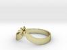 Teardrop Ring - Size 8 - 3mm Gem - 4 Prong 3d printed
