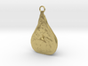 Fig Pendant, Brass 3d printed