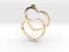 2 Hearts earrings 3d printed
