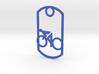 Cyclist - racing - dog tag 3d printed