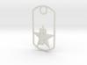 PHS dog tag - Plains Star 3d printed