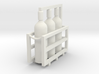 Acetylene Tanks In Rack 1-72 Scale 3d printed