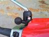 """Vespa Primavera Mirror 1"""" RAM Mount Adapter B Ball 3d printed Flexible boot not yet cut out on picture"""