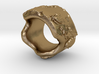 irregular earth ring with relief 3d printed
