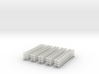 On3 D&RGW 6300 series flat car rail clamps 3d printed