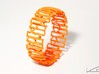 Modern patterned bracelet 3d printed Orange Strong & Flexible