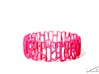 Modern patterned bracelet 3d printed Pink Strong & Flexible