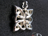 4 Clover Knot - Pendant 3d printed Actual Product Image. Shown in polished silver.