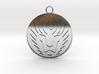 Lion Head Pendant 3d printed