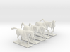 Horses for 28mm miniature 3d printed