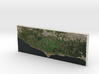 Santa Monica Mtns, California, USA, 1:250000 3d printed