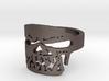 Fallen Angel Biker Skull v2 Ring Size 11 3d printed