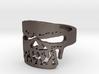 Fallen Angel Biker Skull v2 Ring Size 10 3d printed