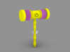Death Jesters Squeaky Hammer 3d printed