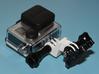 GoPro Helmet mount 3d printed (Prototype from own PLA 3D printer.)