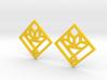 Cactus Basket Quilt Block Earrings - Dangle 3d printed