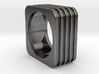 Square Lines Ring  3d printed