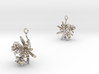 Choisya earring with three small flowers II 3d printed