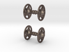 Sheriff Star Bicycle Hub Cufflink 3d printed