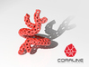 Red Coral Ring sz 6 3d printed