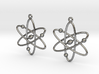Atom Earring Set 3d printed