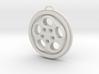 Porsche Phone Dial Wheel Keychain 3d printed