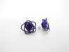 Sprouted Spirals Earrings (Studs) 3d printed