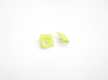 Arithmetic Earrings (Studs) 3d printed Custom Dyed Color (Key Lime)